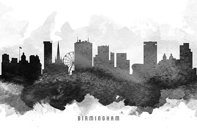 Birmingham Cityscape 11 Poster by Aged Pixel