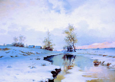 Birth Of Spring In The Snow Poster