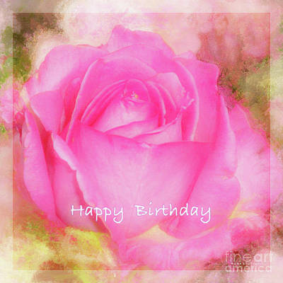 Birthday Rose Pastel Soft Sorbet 6 Poster by Mona Stut