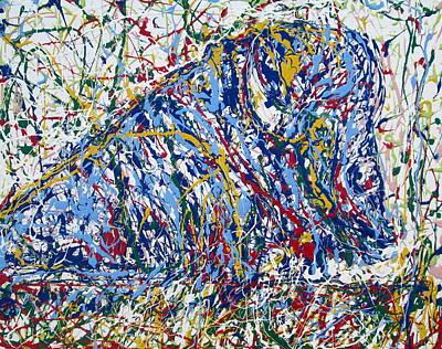 Bison Resting Poster by Fabrizio Cassetta