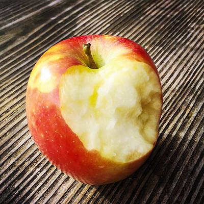 Bitten Red Apple Poster by Matthias Hauser