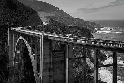 Bixby Bridge Big Sur II Bw Poster