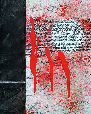 Poster featuring the painting Black And Red 8 by Nancy Merkle
