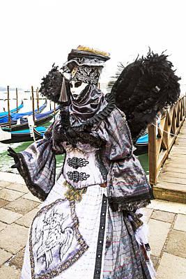 Black And Silver Angel 2015 Carnevale Di Venezia Italia Poster