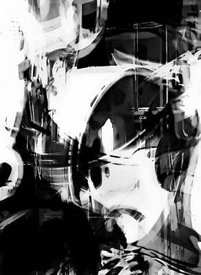 Black And White Abstract Poster by Tom Gowanlock