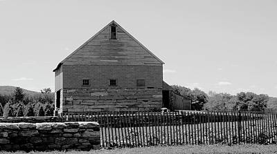Black And White Barn Poster