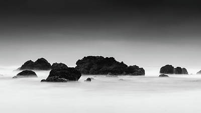 Black And White Beach Art - Long Exposure Photography Poster by Wall Art Prints