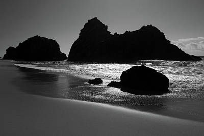 Black And White Big Sur Landscape Poster by Pierre Leclerc Photography