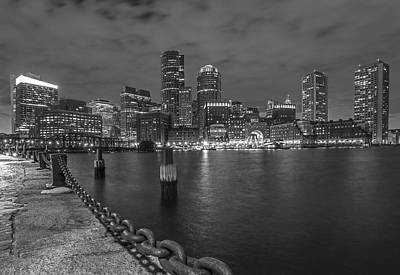 Poster featuring the photograph Black And White Boston by Juergen Roth
