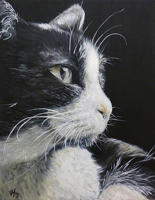 Black And White Cat Poster by Michelle Iglesias