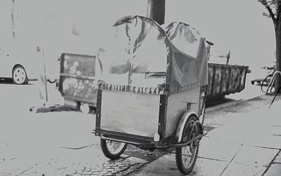 Black And White German Stroller Poster