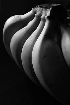Black And White Image Of Banana Poster by By Ale_flamy