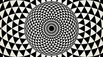Black And White  Mandala Art Poster by Wall Art Prints