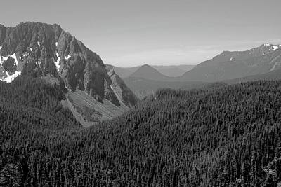 Black And White Nisqually Valley Poster by Dan Sproul