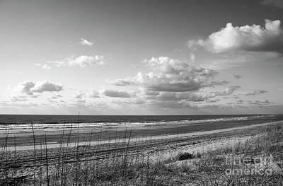 Black And White Ocean Scene Poster