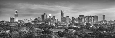 Black And White Of The Austin, Texas Skyline 1 Poster