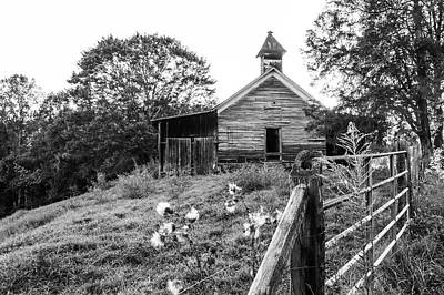 Black And White One Room School House Poster
