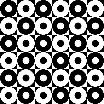 Black And White Pattern   Poster by Mark Ashkenazi