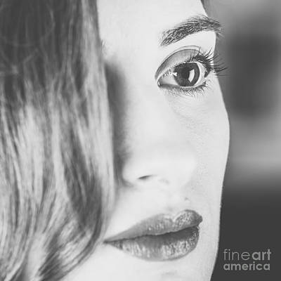 Black And White Portrait Of Beautiful Classy Girl Poster by Radu Bercan
