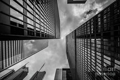 Black And White Skyscraper Poster