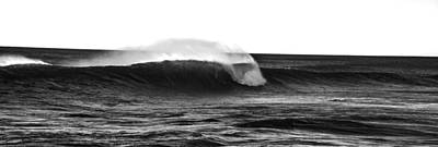 Black And White Wave Poster by Pelo Blanco Photo