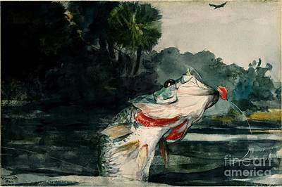 Poster featuring the painting Black Bass by Pg Reproductions