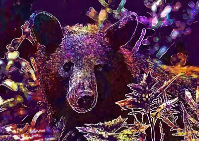 Black Bear Adult Portrait Wildlife  Poster