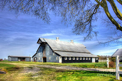 White Windows Historic Hopkinsville Kentucky Barn Art Poster by Reid Callaway