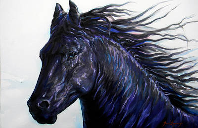 Black Beauty Poster by J- J- Espinoza