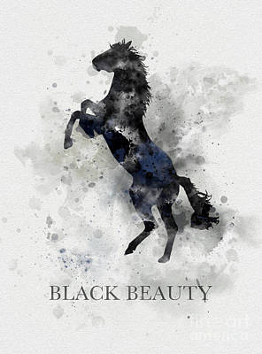 Black Beauty Poster by Rebecca Jenkins