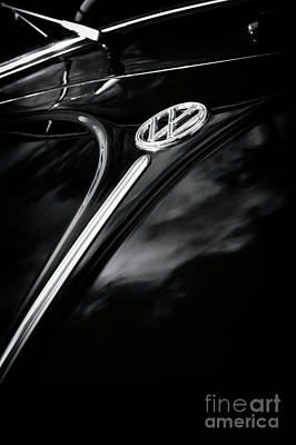Black Beetle Abstract Poster