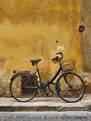 Black Bike In Florence Poster by Patricia Strand