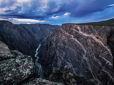 Poster featuring the photograph Black Canyon Of The Gunnison National Park by Nadja Rider