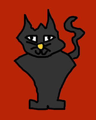 Black Cat Poster by Jera Sky