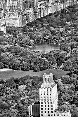 Black Central Park View  Poster by Chuck Kuhn