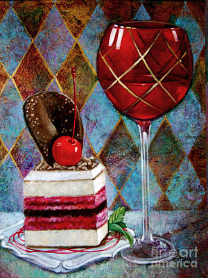 Black Cherry Tiramisu Poster by Geraldine Arata