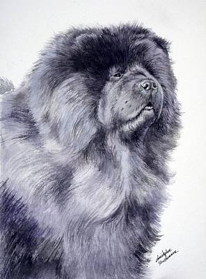 Black Chow Chow  Poster