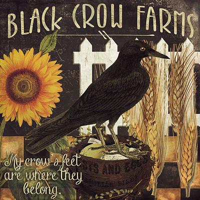 Black Crow Farms Poster by Mindy Sommers