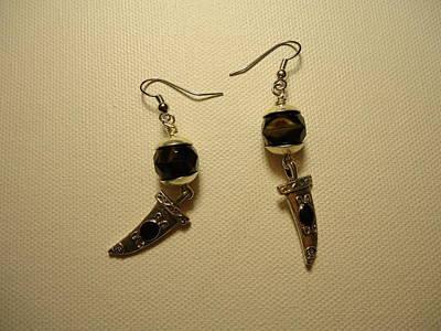Black Dagger Earrings Poster by Jenna Green