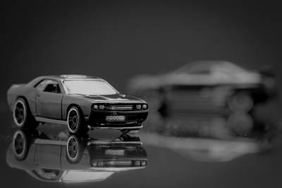 Black Dodge Challenger Poster