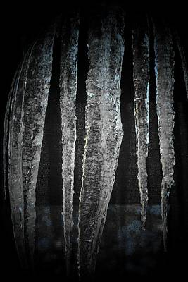 Poster featuring the digital art Black Ice by Barbara S Nickerson
