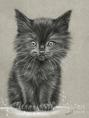 Black Kitten Poster by Leontine Van Vliet