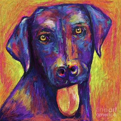 Black Lab Abstract Poster