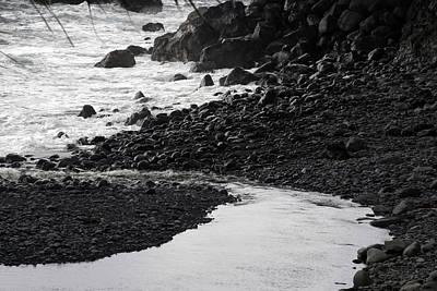 Black Lava Beach, Maui Poster