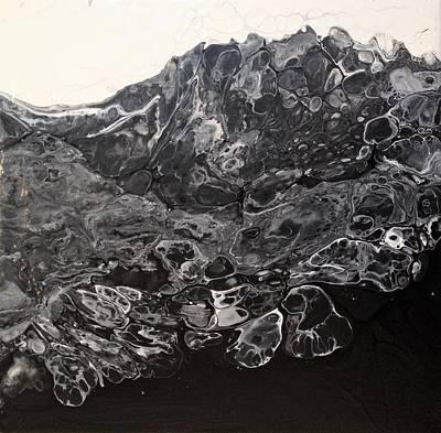 Black Lava Poster by Ivy Stevens-Gupta