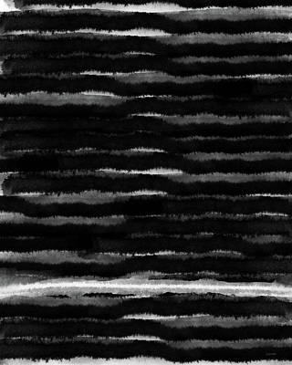 Black Lines- Art By Linda Woods Poster