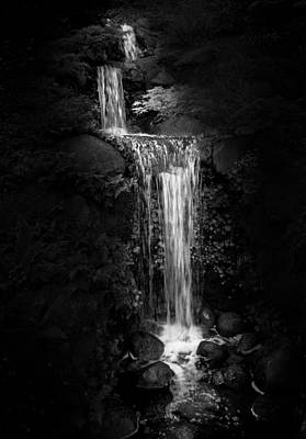 Poster featuring the photograph Black Magic Waterfall by Peter Thoeny