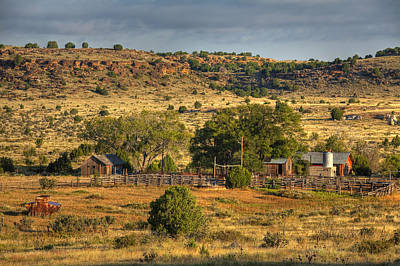 Poster featuring the photograph Black Mesa Ranch by Charles Warren