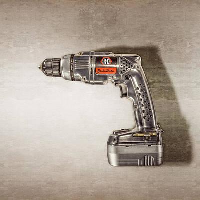 Black N Decker Retro Drill Motor Poster