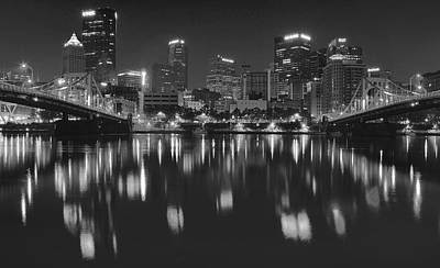 Black Night In Pittsburgh Poster by Frozen in Time Fine Art Photography